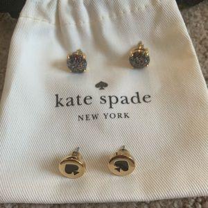 2 pairs Kate Spade Earrings
